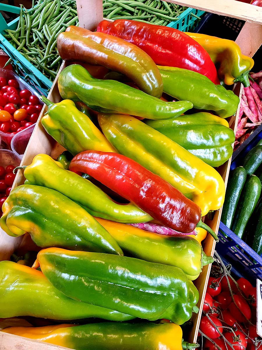peppers red and green