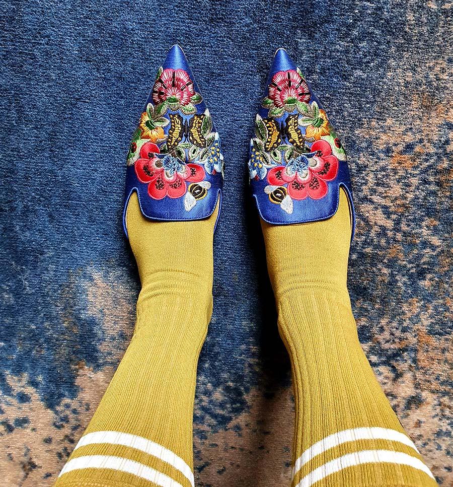 London Sock Company Alberta Ferretti mules