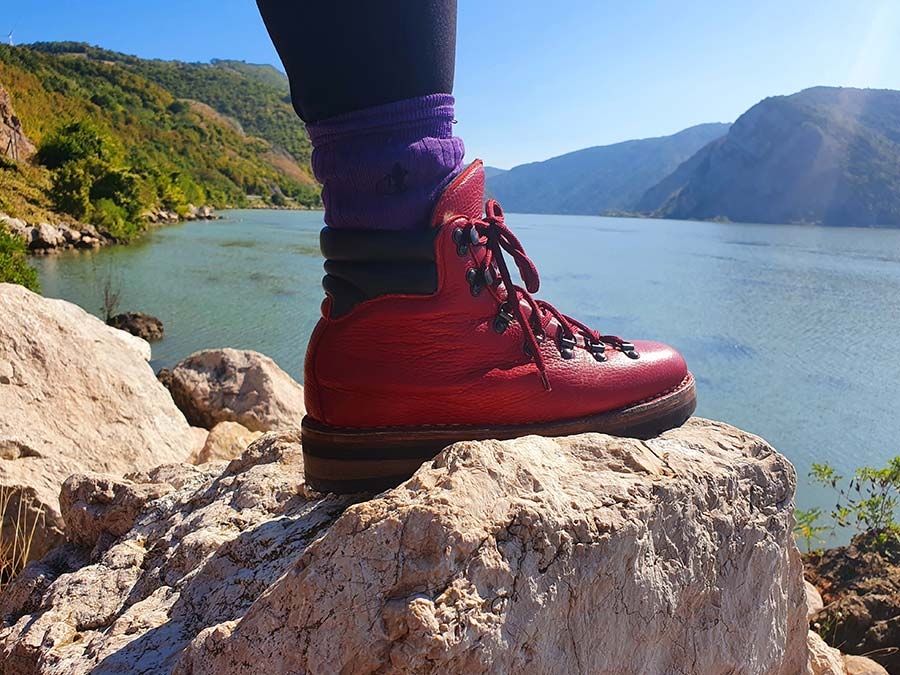 GO Red Hiking Boot Made In Italy