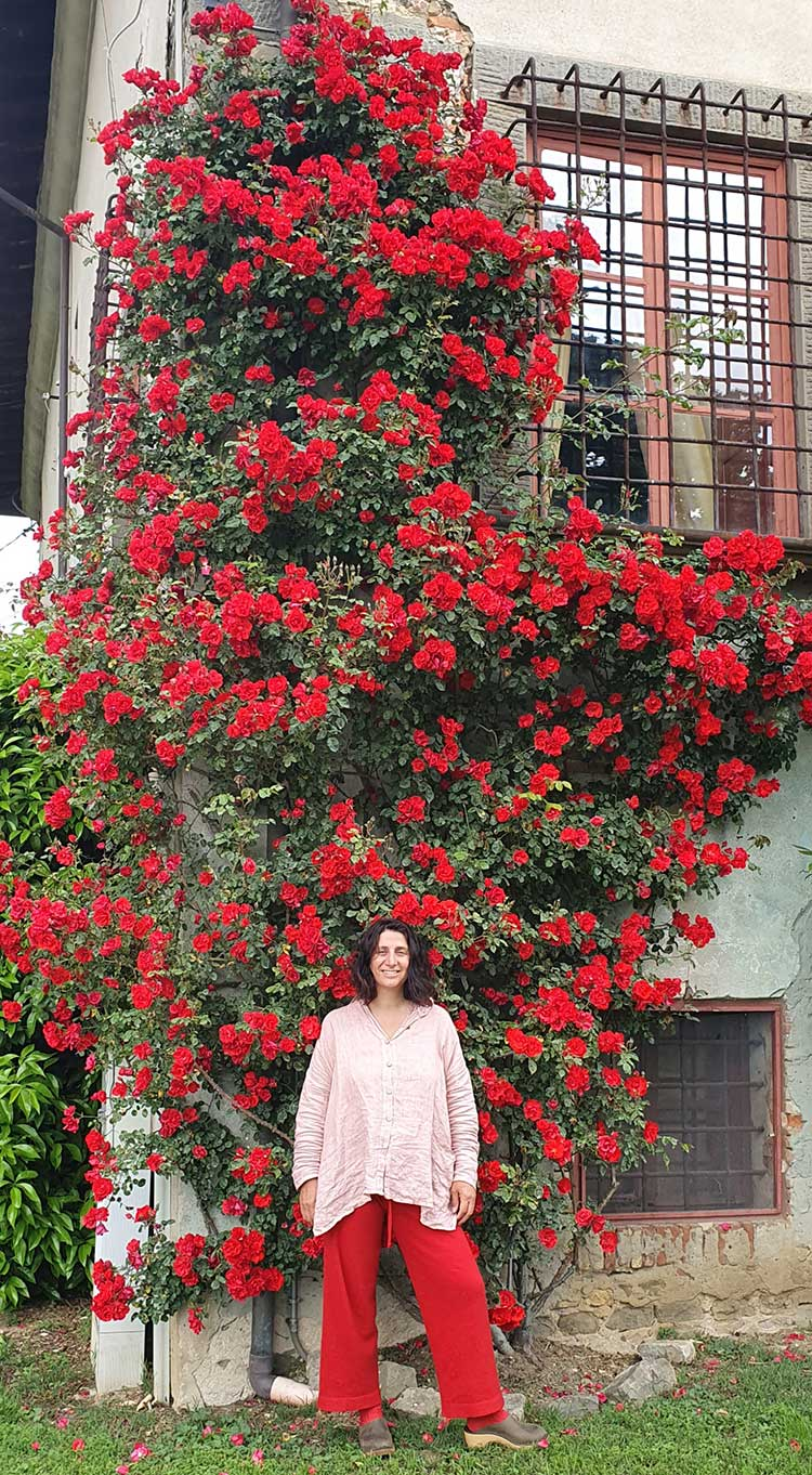 Gracie Opulanza red roses Tuscany Made In italy