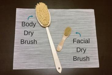 Body dry brush vs. Facial dry brush