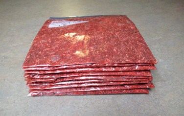 flattened meat is now ready to be put into the freezer