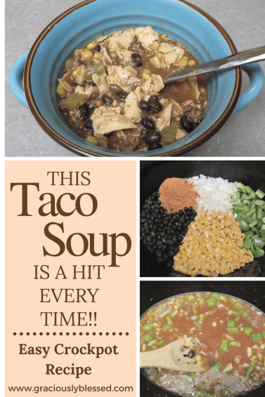 This is an easy crock-pot dish that everyone is bound to love! Add this taco soup to your menu to try!