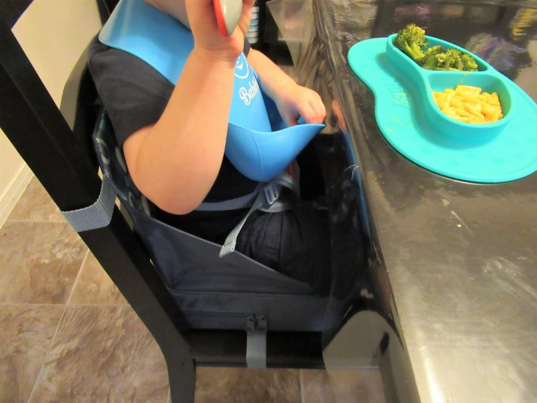 Just wipe this booster seat down with a warm washcloth after every meal and it's as good as new!