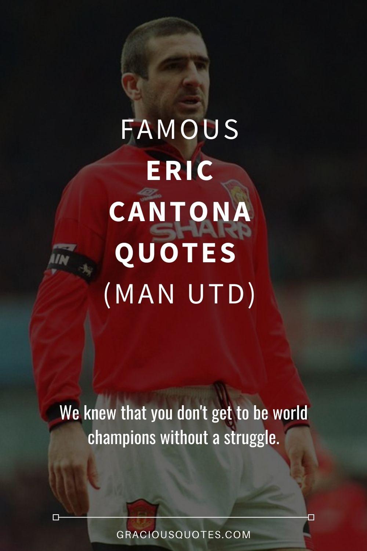 Eric cantona changed english football forever · i am not a man; 42 Famous Eric Cantona Quotes Man Utd
