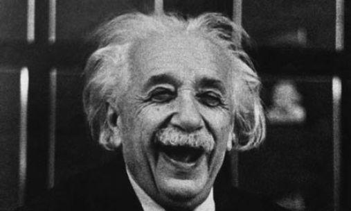 Einstein laughing