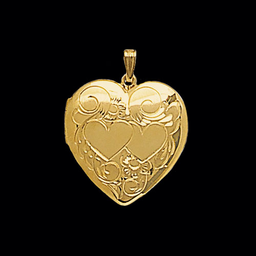 Twinheart Gold Locket  Lovely Pendants By Gracious Rose