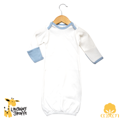 800b90b5f Long sleeves baby night gown with fold over mitten