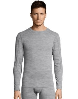 Men's thermal crewneck shirt