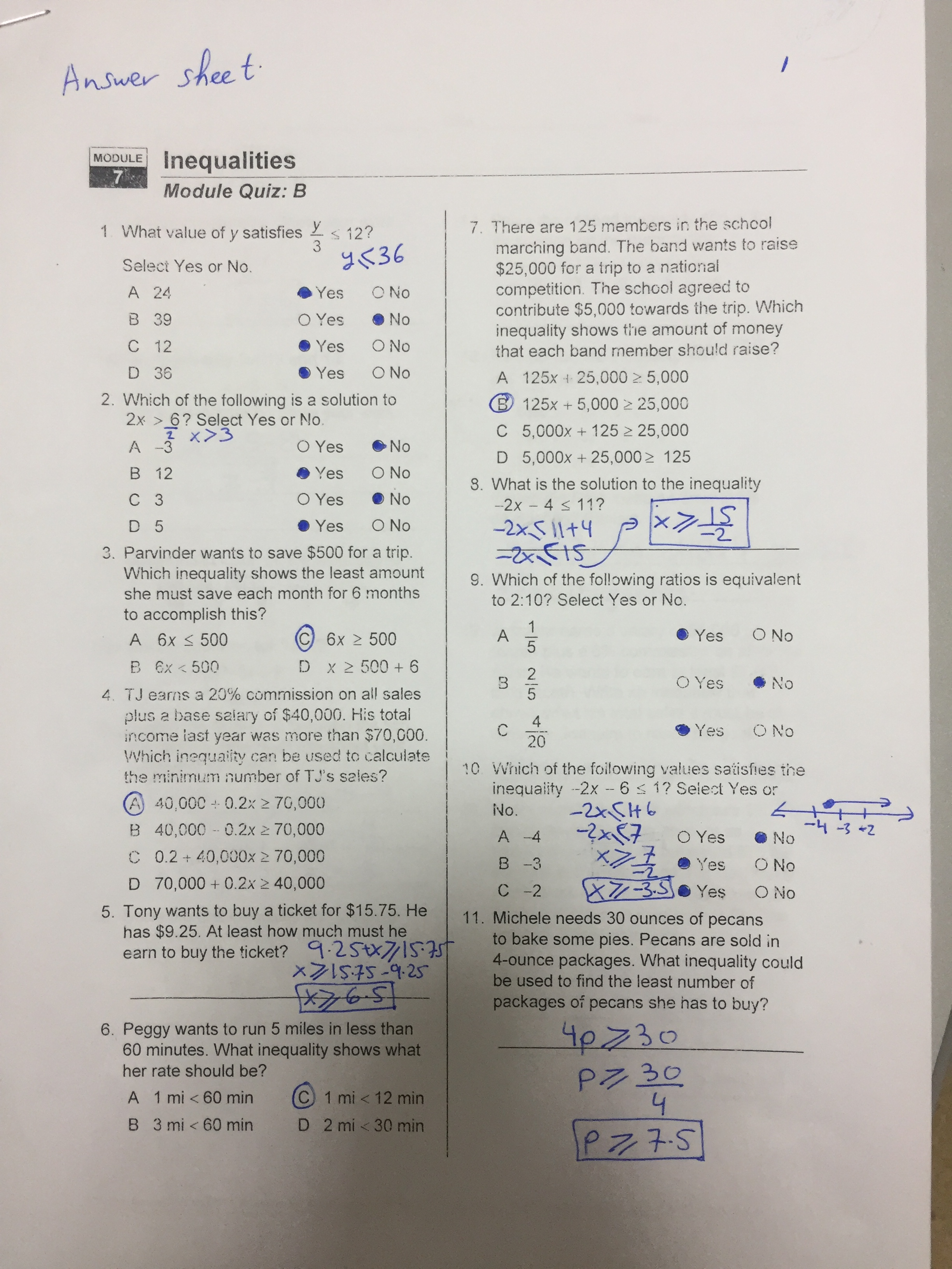 Homework 9 Translating Expressions Equations And