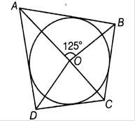 EX 9.1 Q2 In figure, if ∠AOB = 125°, then ∠COD is equal to