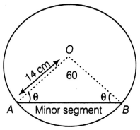 EX 11.3 Q10 Find the area of the minor segment of a circle