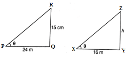 EX 6.3 Q14 A 15 high tower casts a shadow 24 long at a