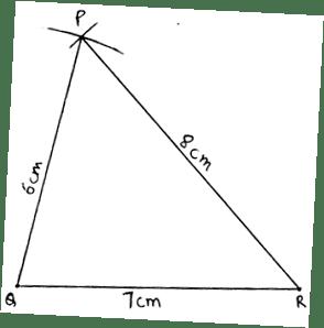 EX 13.A Q3 Construct a ΔPQR, in which PQ = 6 cm, QR = 7 cm