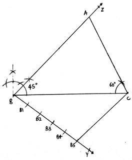 EX 13.A Q7 Construct a ΔABC in which BC = 8 cm, ∠B = 45