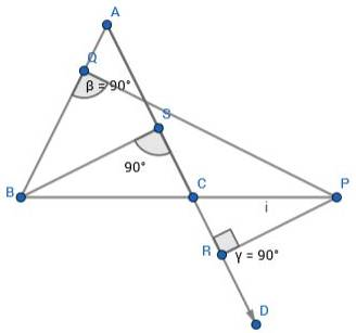Q4 In an isosceles triangle ABC, AB = AC and P is any