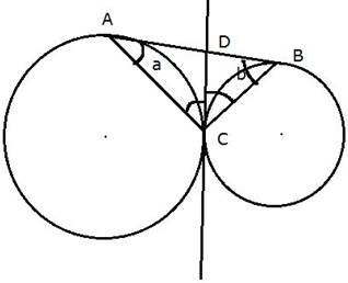 Q11A2 Two circles touch each other externally at the point