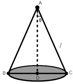 Q24 Show that the semi-vertical angle of the cone of the