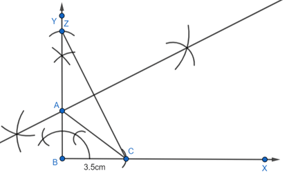 EX 11.4 Q3 A right triangle when one side is 3.5 cm and