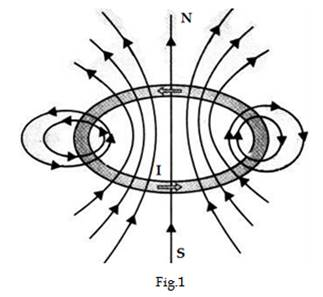 Sketch the magnetic field lines for a current-carrying