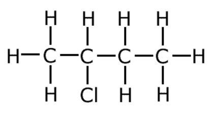 Draw the structure of chlorobutane.
