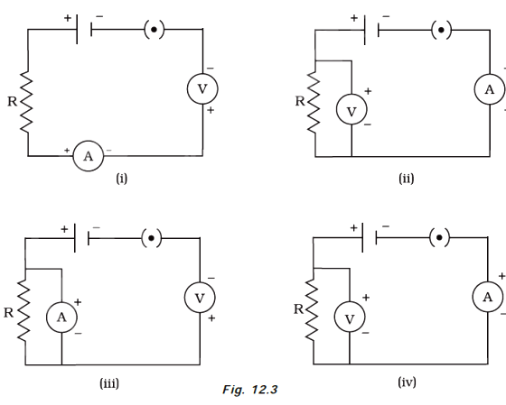 Identify the circuit (Figure 12.3) in which the electrical