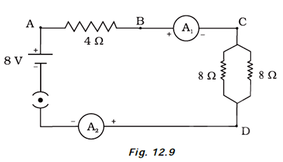 Find out the following in the electric circuit given in