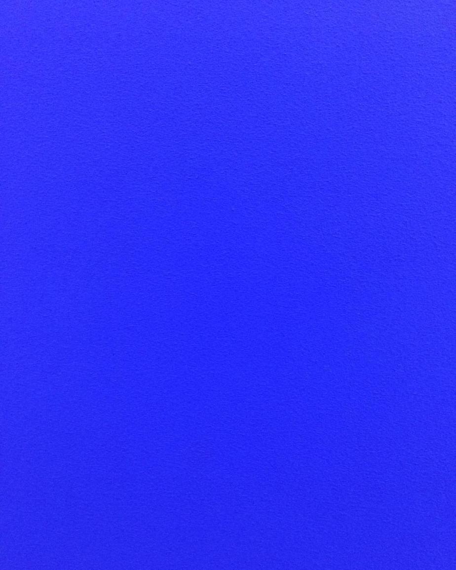 Yves Klein.  Monochrome Blue: IKB 73, 1961.