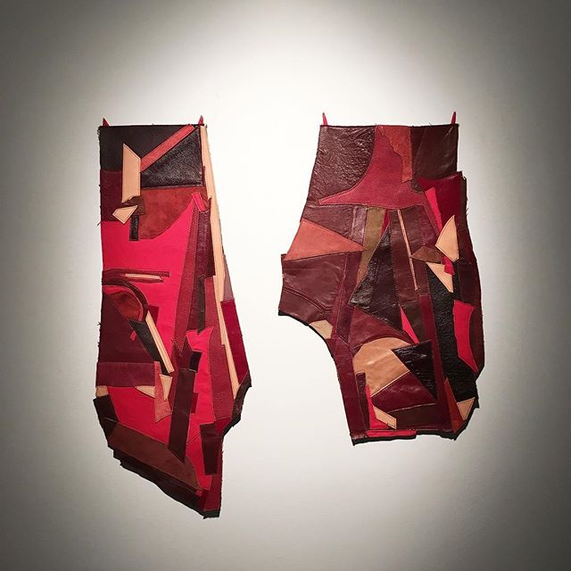Reimagined Jeans, 2018.  Kimberly Joy Trathen. … at Sleeth Gallery, Buckhannon, WV.