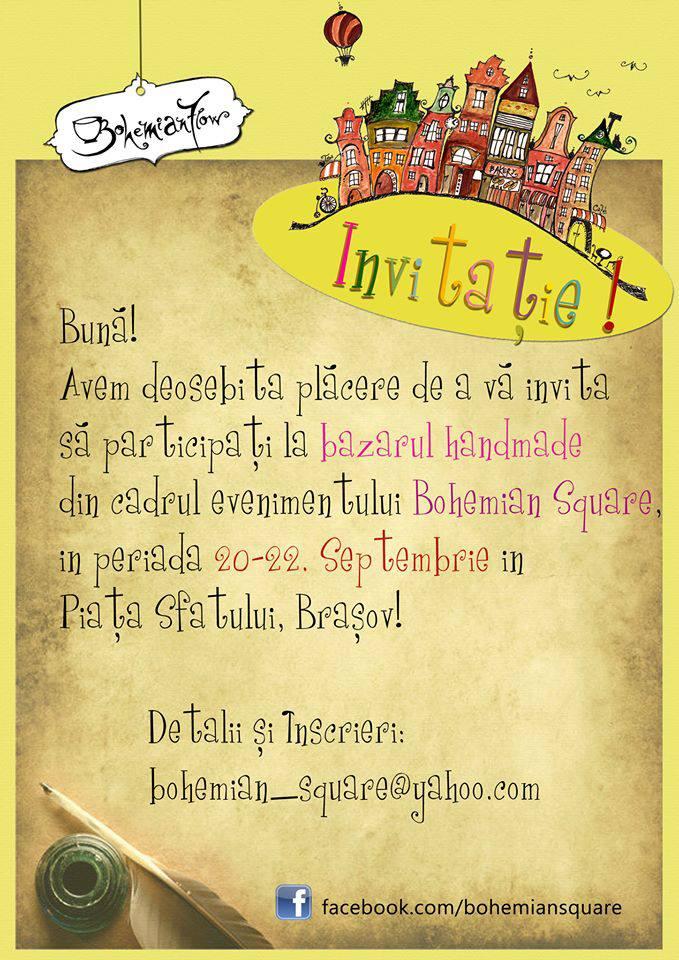 Invitatie la Bohemian Square