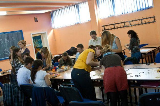 Workshop de albine kanzashi la Timișoara 8