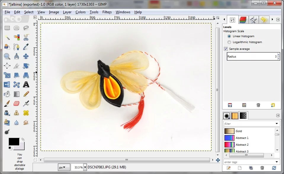 How to - white balance in GIMP