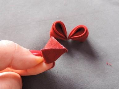 Peony flower tutorial - middle petals