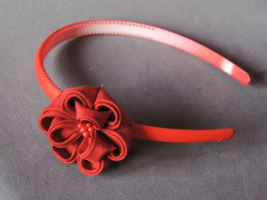 Peony flower tutorial - flowered headband