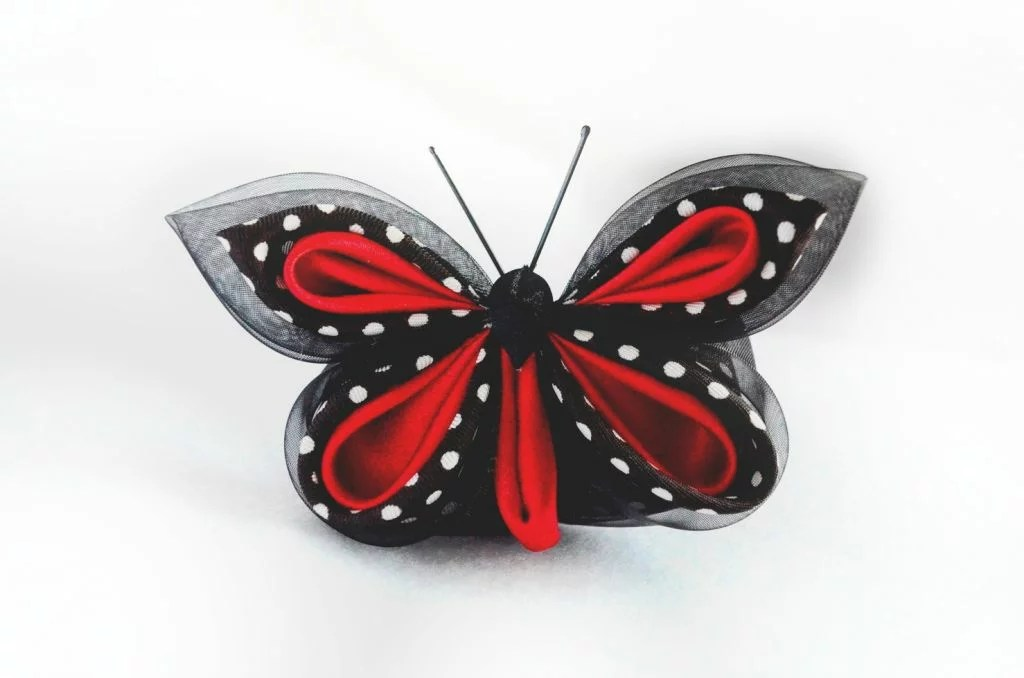 Fluture buline rosu negru