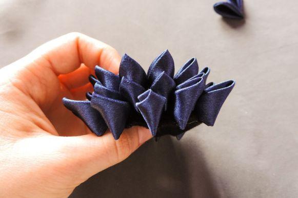 Kanzashi chrysanthemum original tutorial 11