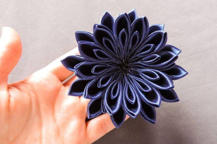 Kanzashi chrysanthemum original tutorial 12