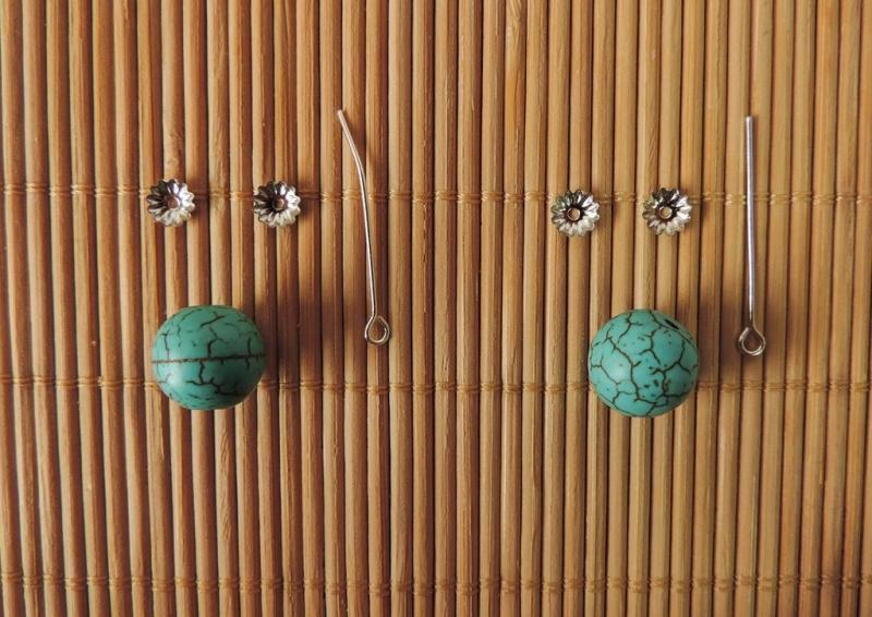 Flower earring tutorial - 07