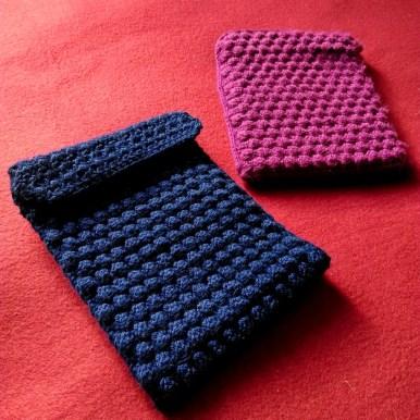 Bobble wrap crochet Kindle case 1
