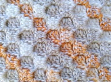 C2c corner-to-corner crochet baby blanket 5