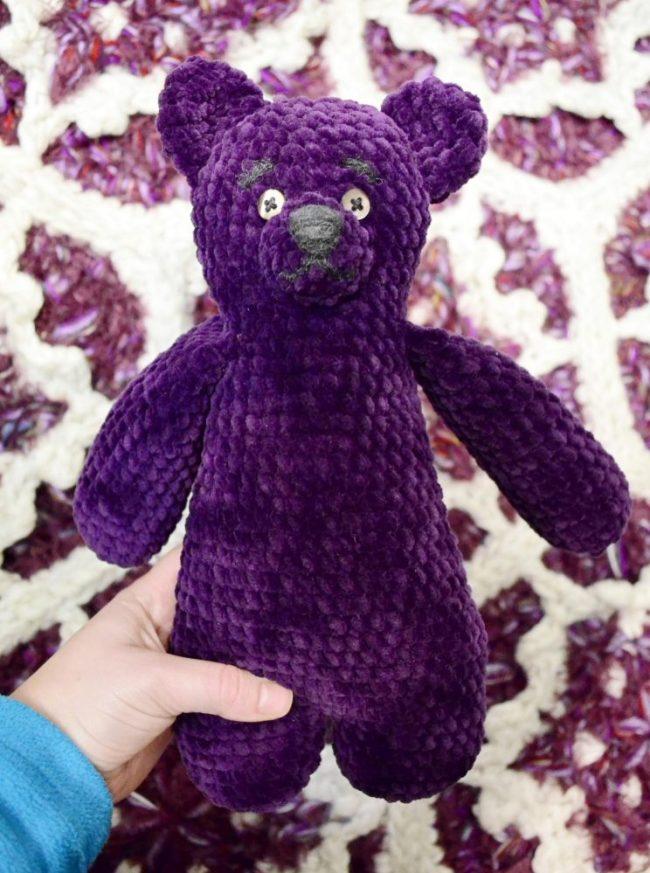 Big teddy chenille amigurumi free crochet pattern 1
