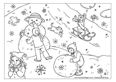 Jocurile copiilor iarna