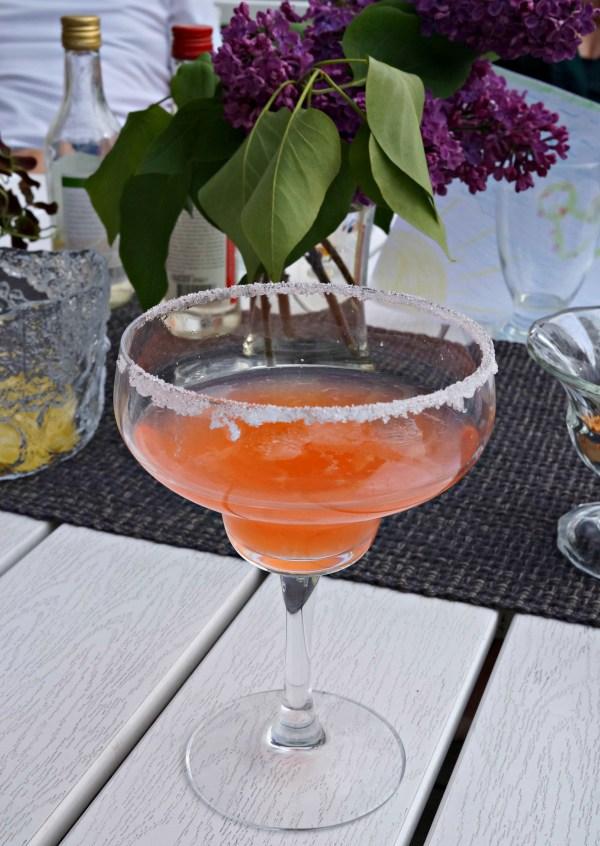 Rabarber- och jordgubbscooler