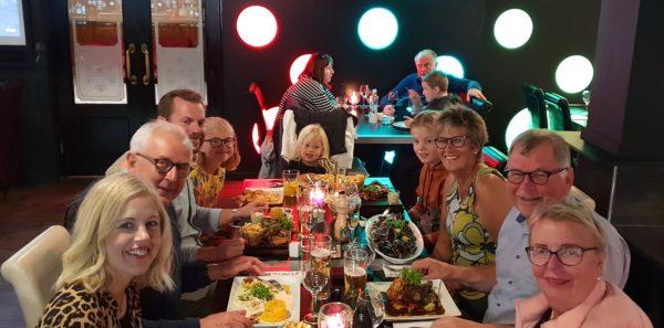 Födelsedagsmiddag på restaurang Fairways