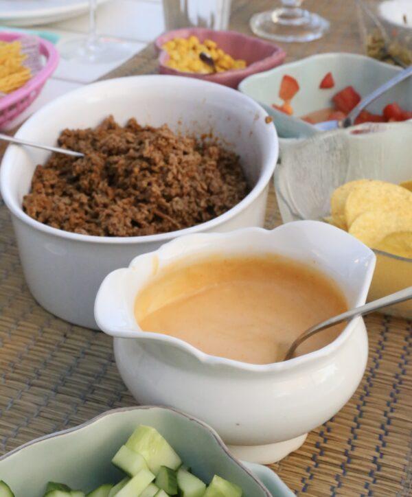 Cheddardipp till tacos