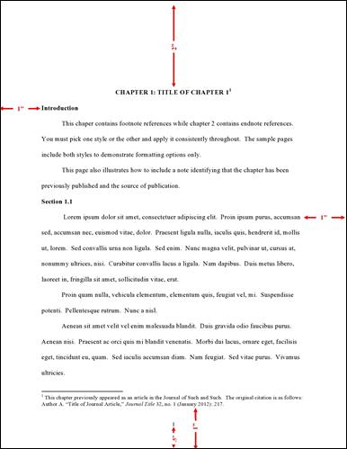 Formatting Guidelines Thesis And Dissertation Guide