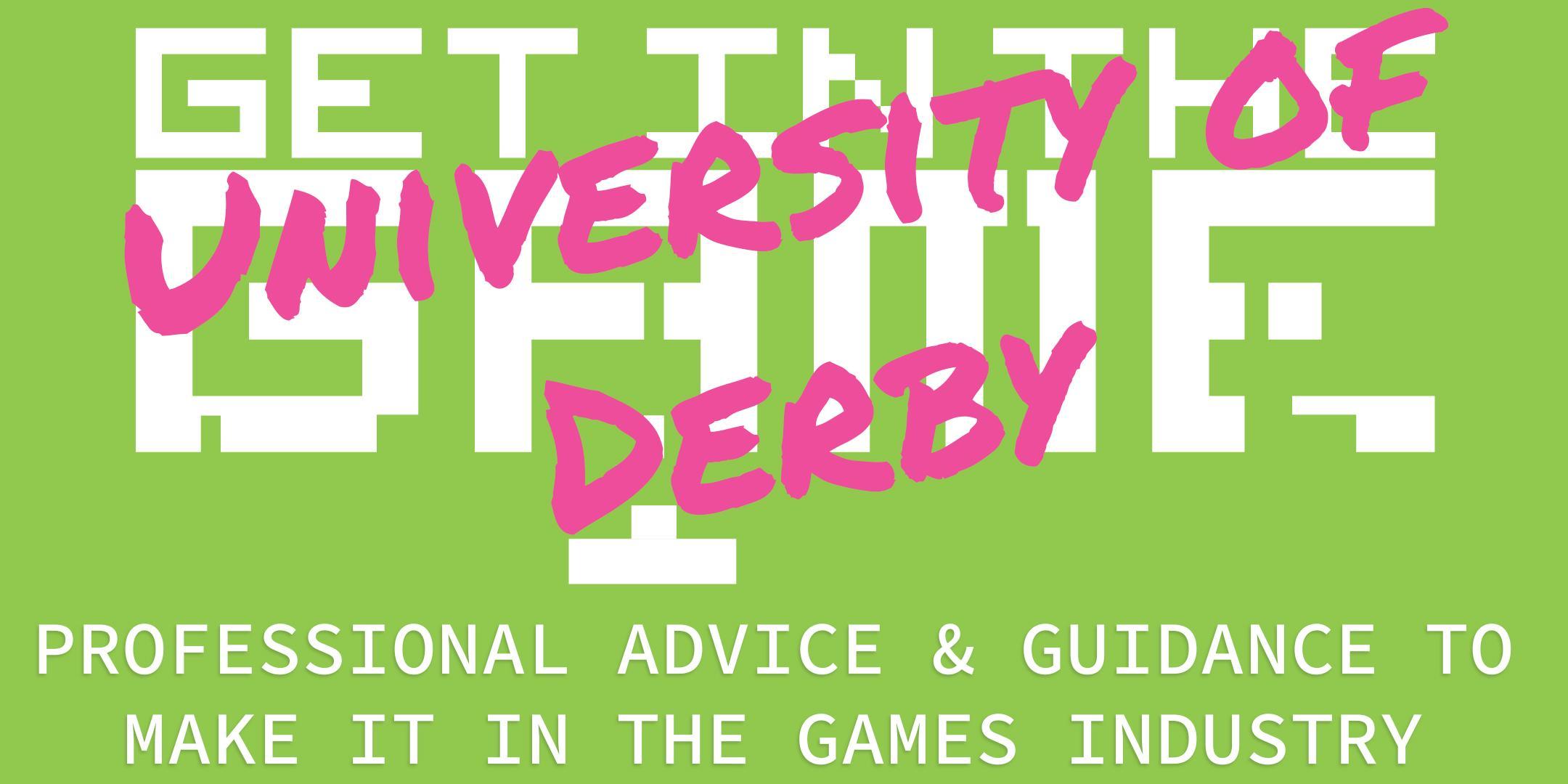 Get in the Game Careers Talks; University of Derby