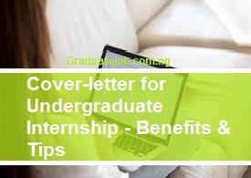 Cover letter for undergraduate internship
