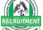 Graduate Internship Recruitment at Alex Ekwueme Federal University Teaching Hospital