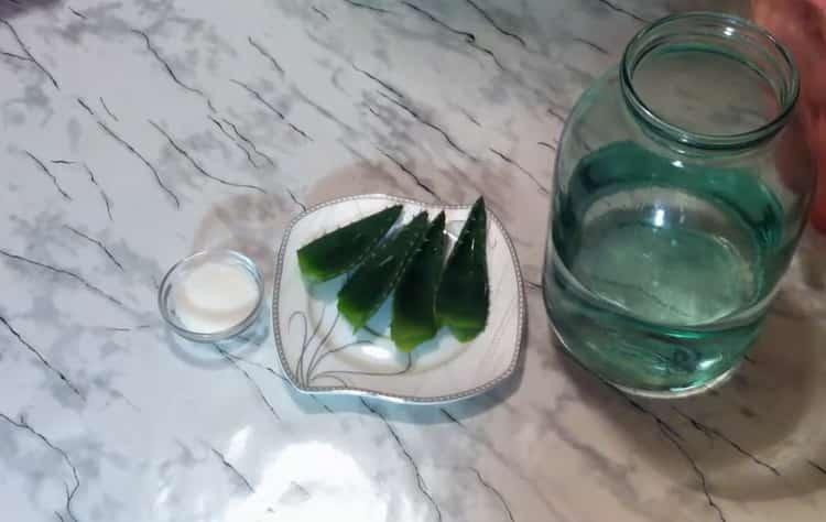 Por receita para cozinhar tequila em casa. Preparar ingredientes